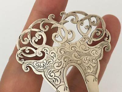 Victorian Solid Silver Hair Ornament c.1897 (R2970)