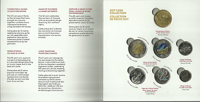 Canada 150 Yrs Celebrations 2017 Special Edition 7 Coin  Set ...with Gid Toonie