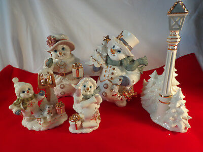Snowman Family Christmas Holiday Figurine Collector's Edition
