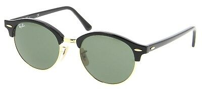 34da45783d4 RAY-BAN RB4246 CLUBROUND Classic Sunglasses Black  Green Classic ...