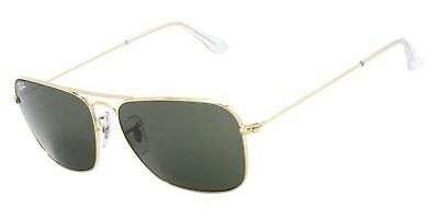 5d8c731ef8 New Ray Ban Men s Caravan Sunglasses RB3136 001 Gold w Green G-15 55mm