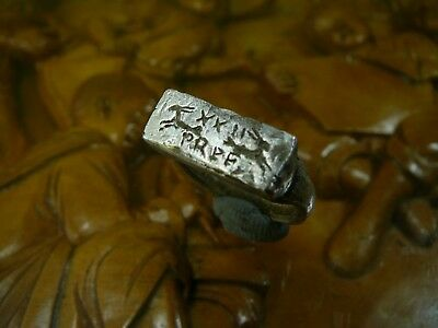 Stunning Unique Ancient Roman Silver ring Senatorial Legionary XXII Primigenia