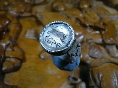 Stunning Unique Ancient Roman Silver ring Senatorial Legionary Legio VII Claudia
