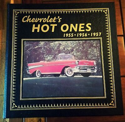 Chevrolets Hot One's 1955-57 (Leather) A. Young, 22k Gold gilt RARE Collectible