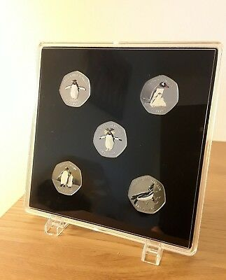 ACRYLIC COIN DISPLAY CASE,TRAY FOR FALKLANDS PENGUINS 2017 50p COINS SET
