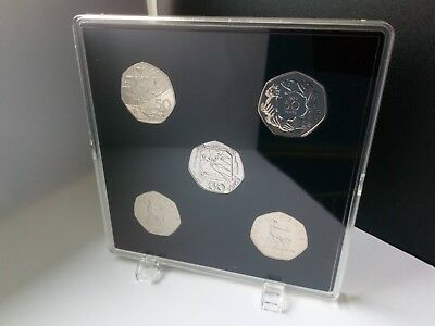 ACRYLIC COIN DISPLAY CASE (5 slots) FOR OLD 50p (pre 1997)