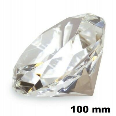 100mm Clear Diamond Cut Crystal Glass Paperweight Collectible Wedding Decor