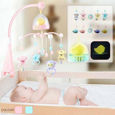 Baby Musical Crib Bed Cot Mobile Dream Nusery Lullaby Remote Control Toys