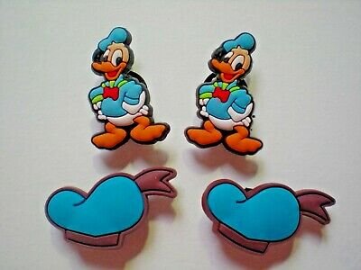 Garden Clog Shoe Charm Button Plug Accessorie Bracelet WristBand Donald Duck