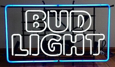Bud Light Beer Iconic Brewery Authentic Neon Light Up Sign