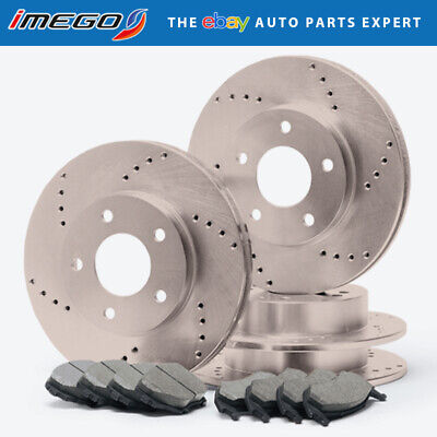 |Front + Rear| Rotors w/Ceramic Pads Drilled Brakes (RWD 300 Challenger Charger)