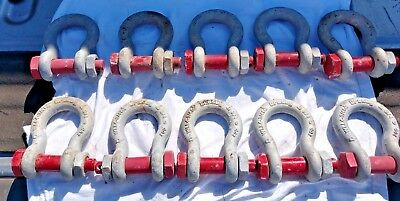 """Crosby 3/4"""" Bolt Type Anchor Shackle 4.75 Ton G-2130 Galvanized  (4 Piece Lot)"""
