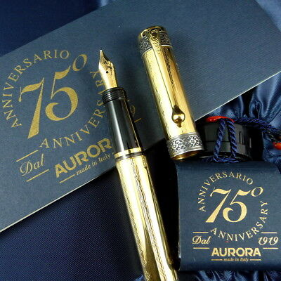 AURORA 75th ANNIVERSARY VERMEIL 18k Med, Mint with Boxes and Papers, NO RESERVE