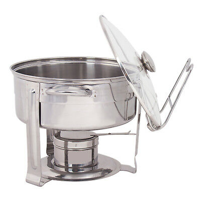 """Stainless Steel Chafing Dish Set - 4.5"""" QT Party Buffet Chafing Dish Pot Set"""