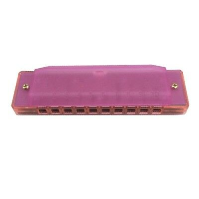 (Rosy) - Fiouni 10 Hole Harmonica Key of C Diatonic Harmonica Mouth Organ with