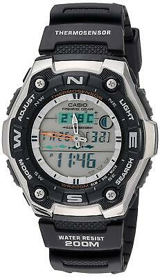 Casio Men's Quartz Fishing Gear Black Resin Band 46Mm Watch Aqw101-1A