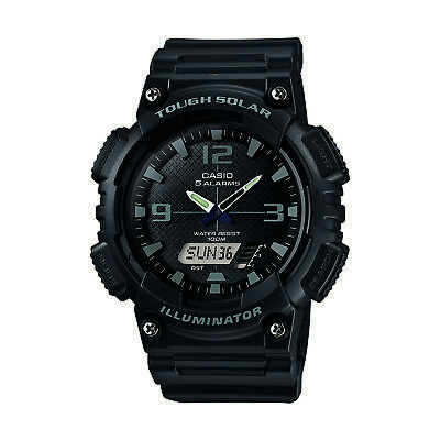 Casio Men's Tough Solar Ana-Digi Black Resin Band 47Mm Watch Aqs810w-1A2v