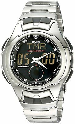 Casio Men's Quartz Analog-Digital Silver-Tone Bracelet 43Mm Watch Aq160wd-1Bv