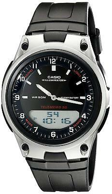 Casio Men's Quartz Illuminator Ana-Digi Black Resin Band 40Mm Watch Aw80-1Av
