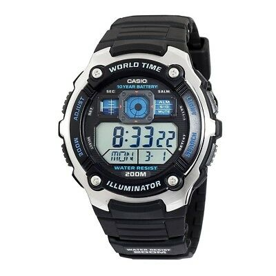 Casio Men's Quartz Multifunction Black Resin Band 47Mm Watch Ae2000w-1Av