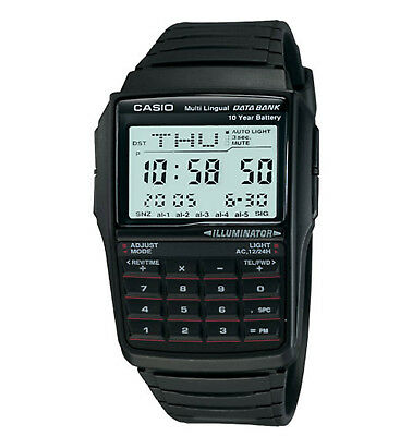 Casio Men's Quartz Illuminator Calculator Black Resin Band 41mm Watch DBC32-1A