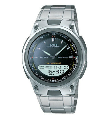 Casio Illuminator Men's Quartz Silver-Tone Bracelet 40mm Watch AW80D-1AV