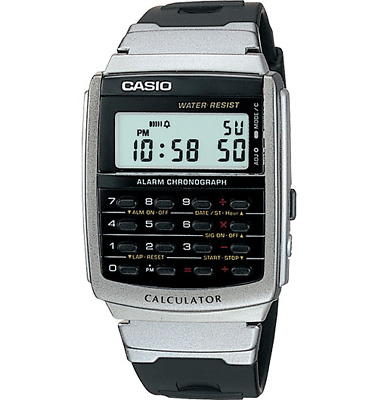 Casio Databank Men's Quartz Calculator Black Resin Band 35Mm Watch Ca56-1