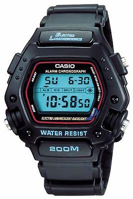 Casio Men's Classic Quartz Digital Black Resin Strap 45Mm Watch Dw290-1V