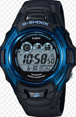 Casio G-Shock Men's Tough Solar Blue Dial Black Resin Strap 46Mm Watch Gwm500f-2