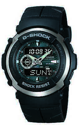 Casio G-Shock Men's Street Rider Black Resin Sport 44Mm Watch G300-3Av