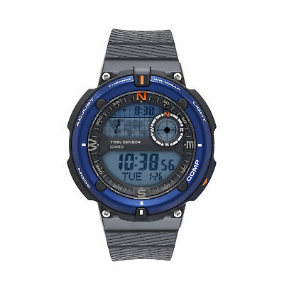 Casio Men's Digital Two-Sensor Blue Case Black Resin Band 45Mm Band Sgw600h-2A