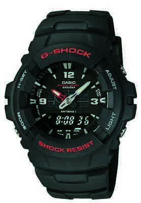 Casio G-Shock Men's Ana-Digi Black Resin Band Sport 47.5mm Watch G100-1BV