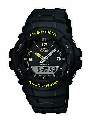 Casio G-Shock Men's Quartz Anti-Magnetic Black Resin Band 48Mm Watch G100-9Cm