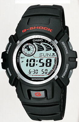 Casio G-Shock Men's Quartz Alarm Black Resin Band 49.5Mm Sport Watch G2900f-1V