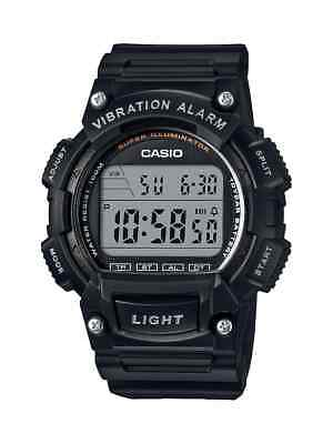 Casio Men's Classic Alarm Digital Black Resin Sport 44Mm Watch W736h-1Av