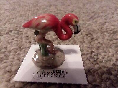 "Little Critterz  ""WADE"" Flamingo MINIATURE porcelain figurine"