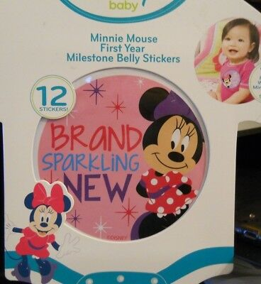 Disney Baby Minnie Mouse First Year Milestone Belly Stickers 12 Stickers