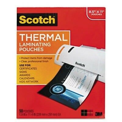 3M/COMMERCIAL TAPE DIV TP385450 Letter size thermal laminating pouches, 3 mil,
