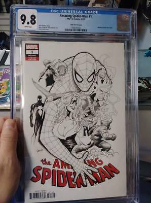Amazing Spider-Man #1 (#802) Land Sketch cover CGC 9.8 White Pages