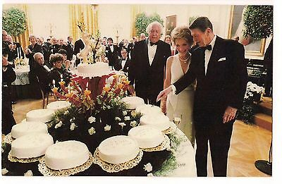 PRESIDENT RONALD REAGAN 70th BIRTHDAY White House CAKES Hollywood  POSTCARD 1981
