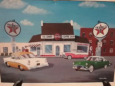 Pictures Of Classic Automobile 1930-40-50 Art Photo Shell Texaco Gas Oil 2Koozie