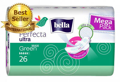 Bella Perfecta Ultra Maxi Green Lot de 4 packs 26 serviettes hygiéniques...