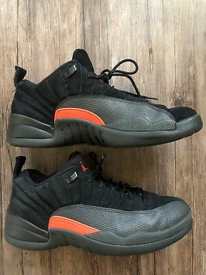 563c1cd4cf4c2a Men s Nike Air Jordan 12 Retro Low Black Max Orange 308317-003 Size 10 Shoes