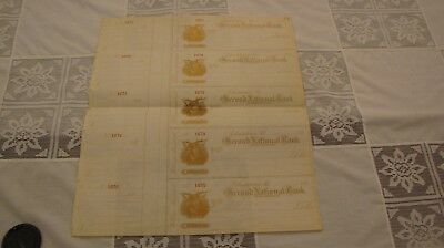 5 old Chestertown Maryland Second National Bank 1890's Checks William Archibald