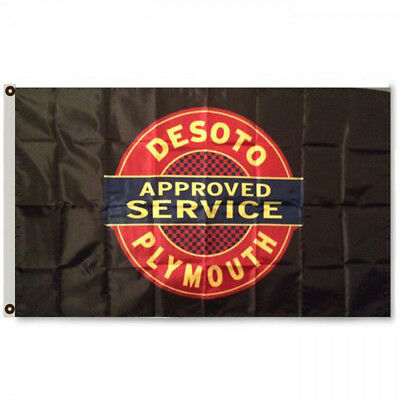 PLYMOUTH DESOTO APPROVED SERVICE FLAG BANNER 3x5Feet