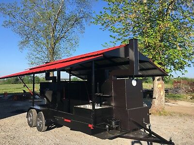 Sink Setup Roof BBQ Smoker Cooker Grill Trailer Mobile Food Truck Business