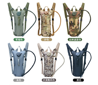 US 3L Water Bladder Bag Military Hiking Camping Hydration Backpack  Pack