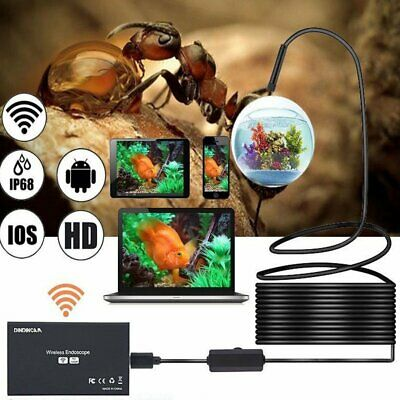 5.5mm 8LED Wireless Endoscope WiFi Borescope Inspection Camera Waterproof 1200p