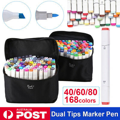 40 60 80 Colour Marker Pen Touch Painting Graphic Art Sketch Twin Tip Fine Broad