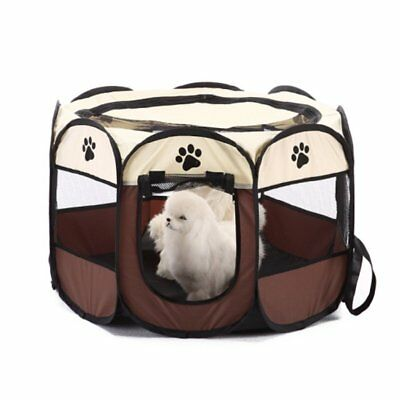 Foldable Cat Dog Crate Soft Sided Pet Carrier Training Kennel Playing Cage House